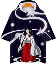 Anime Inuyasha Camiseta de Manga Corta Tops tee Sudadera con Capucha Jerseys Sudadera Cosplay Disfraz