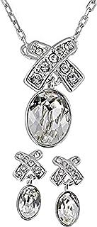Swarovski Women's Rhodium Plated Jewelry Set - 5034157