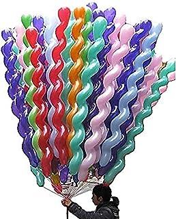 Newin Star Juego 50pcs látex Espiral del Globo de 50 Pulgadas de Colores únicos Twisted látex Globos para Festival de cumpleaños de la Boda Decoración de Fiesta de Suministro