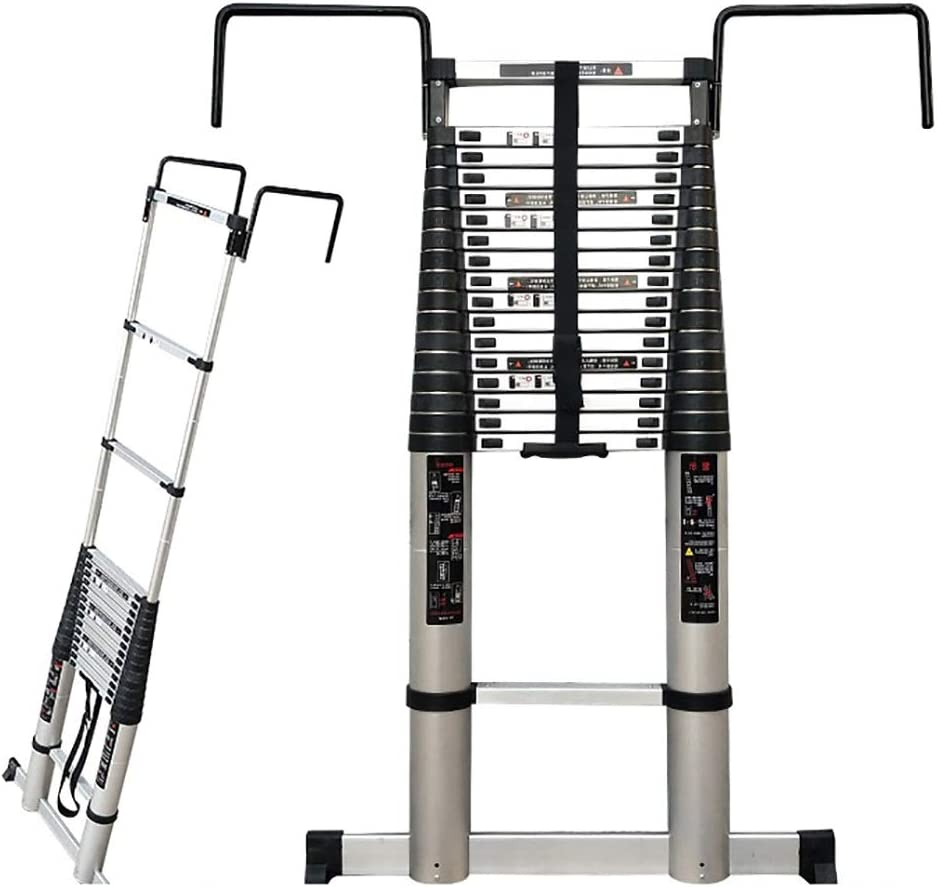 Aluminum Some reservation Telescopic Ladder 18.5 Ft Super sale period limited Grade Heavy Duty Commercial