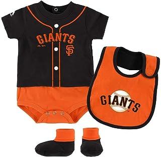 Majestic San Francisco Giants Tiny Player Creeper, Bib, and Bootie Set