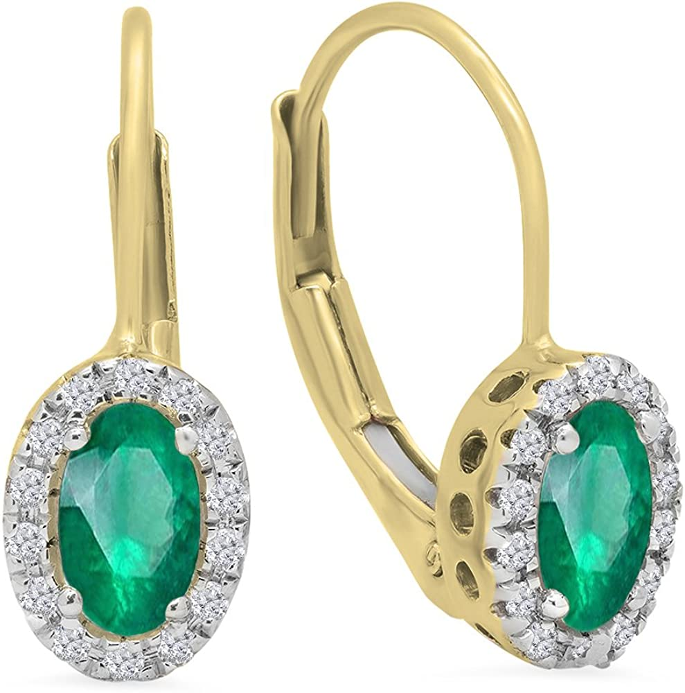 Dazzlingrock Al sold out. Collection 14K Max 46% OFF Ladies Halo Hoop Earrings Yel Style