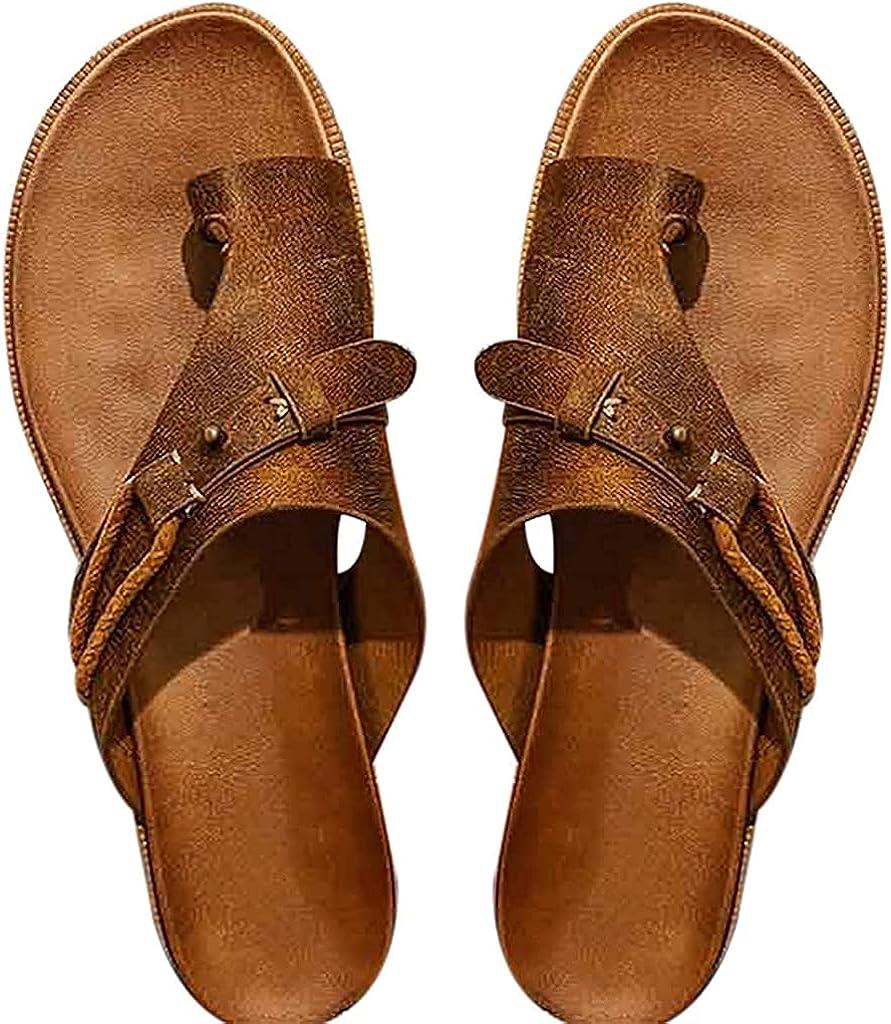 Women's Carina Sandals Flat Sandals Comfort Slide PU Footbed Summer Beach Shoes for yoga pants, leggings, skirts, shorts, jeans