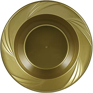 Maryland Plastics 12 oz. Silver Newbury Plastic Heavy Duty Disposable Soup and Salad Bowl 15 Count