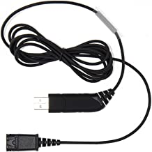 Plantronics Compatible QD- USB Adapter Bottom Cable VOIP/UC Connects and Works with Any Plantronics or TruVoice Headset to Any Computer, Laptop or Softphone