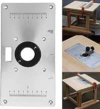 Mesa de Fresadora Insertar Placa para Makita 700C Carpintería, Multifuncional de Aleación de Aluminio con 4 Anillos y Tornillos, Fácil de Operar, Ahorra Esfuerzo y Trabajadores - Plateado