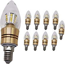 Mengjay 10x E14 Edison-lamp, wolfraamlamp, SMD-glazen schaal, 5 W warmwit (niet dimbaar)