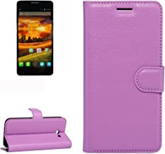 Mobile Phone Cases & Covers, For Alcatel One Touch Idol X / 6032 / OT-6032 Litchi Texture Horizontal Flip Leather Case with Holder & Card Slots & Wallet (Color : Purple)