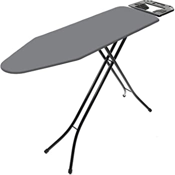 Coroid International Quality Sasimo Ironing Board/Iron Table Stand with Press Holder, Foldable & Height Adjustable/Ironing Board with Multi-Function Ironing Table/Ironing Board Covers with Foam pad