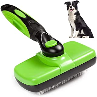 Self Cleaning Slicker Brush brushing brushing Loose Undercoat, Mats and Tangled Hair Your Dog or Cat Will Love Being Brush...