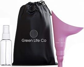 NA Green Life Co - Orinal femenino – Dispositivo de micción de viaje y embudo para orinar para mujer, bolsa de transporte discreta – camping, senderismo, actividades al aire libre y más
