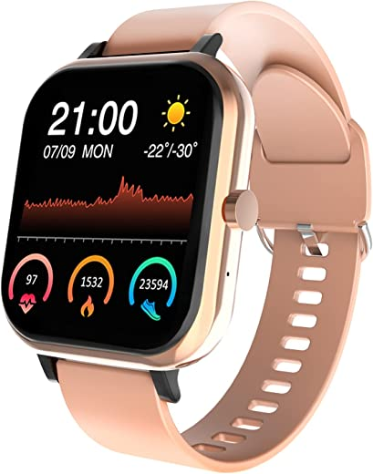 DOMEZAN Smart Watch Compatible with Android and iOS Phones, 1.54-Inch Smart Touch Screen,with Advanced Health Monitoring Features Fitness Tracker…