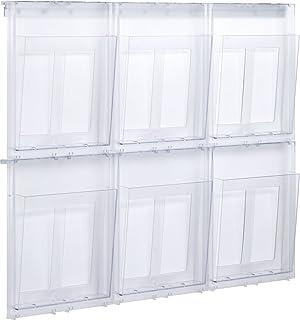 Helit H6270230 4 compartimentos, DIN A5, formato vertical Soporte de pared color azul