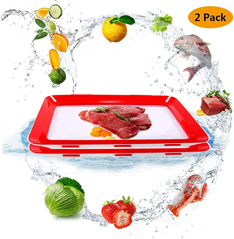 Elastic Tray Food Plastic Preservation Reusable 2019 New Vacuum Magic Technology Film Tray Kitchen Tools Healthy Buckle Seal Storage Container