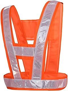 Safety vest Reflective Clothing Vest Traffic Car Inspection Running Sanitationcycling Uniform Night Safety Vest Fluorescen...