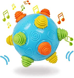 Toddlers Baby Music Shake Dancing Ball Toy, Move and Crawl Ball Toys for Kids,Bouncing Sensory Learning Ball Toys Ideal Gi...