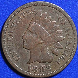 1892 U.S. Indian Head Cent / Indian Head Penny Good and Better