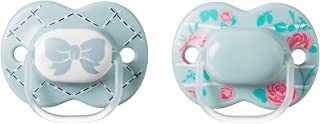 Tommee Tippee Little London Pacifier,BPA-Free, Bottle Shapped Nipple,6-18 Months, 2 Count (Colors May Vary)