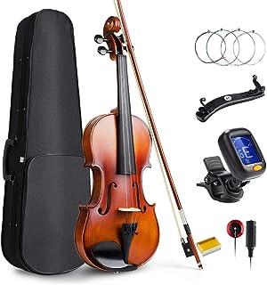 Vangoa 4/4 Violín de concierto con funda de violín, hombro, rosina y cuerdas de violín para principiantes, adultos o niños
