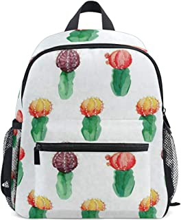 Mini Backpack Watercolor Cactus Plant School Bag Daypack Lightweight Small