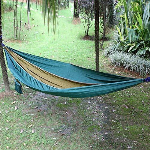 Longspeed Leichte tragbare Nylon-Hängematte für den Rucksack Camping Survival Garden mit 660 Pfund maximaler Kapazität - Blau