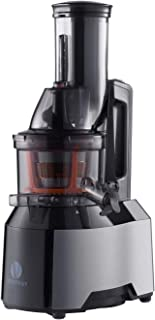 Ventray Masticating Juicer - Slow Juicer with Wide Chute Big Feeding Mouth - Cold Press Juice Maker - Black