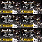JAVA HOUSE Cold Brew Coffee, Colombian Medium Roast Coffee Concentrate Liquid Pods - 1.35 Fluid Ounces (36 Count) Enjoy Hot Or Iced