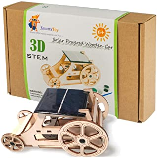 Wooden Solar Car Model Kits to Build - DIY Educational Science Kits for Kids Age 8-12. STEM Learning Building Toys-Creativ...
