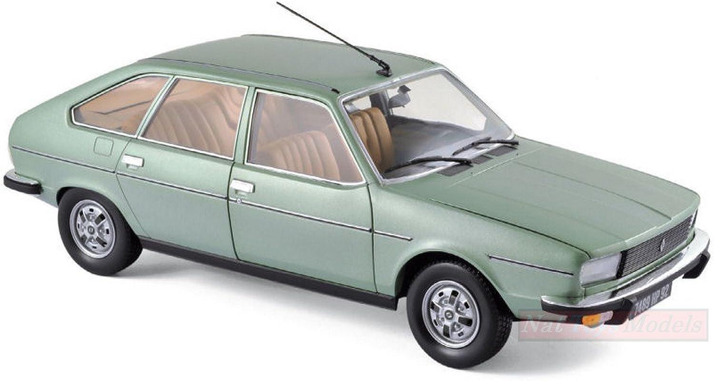 NOREV NV185265 Renault 20 TS 1978 ALGUE Grün METALLIC 1 18 MODELLINO DIE CAST B07B7KJ447 Moderne Technologie  | Erste Gruppe von Kunden