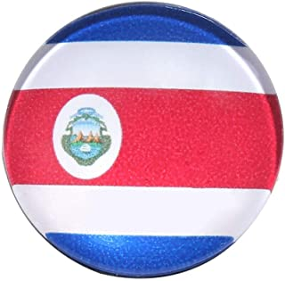 3cm/1.2 Diameter Pin Button Badges 32 Different Team Flag Brooch | Item Color - Costa Rica