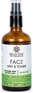 Bella Vita Organic Anti Acne Face Mist & Toner For Glowing & Acne Free Skin With Tea Tree, Cucumber, Neem & Mint