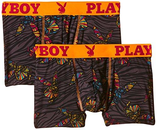 Playboy Herren Fashion Boxer x1 Boxershorts, Mehrfarbig (Psychedelic Safari), X-Large (Herstellergröße: 5)
