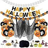 Halloween Decorazioni Happy Halloween Banner,Palloncini di Halloween,Decorazione Halloween Palloncini,Happy Halloween Banner