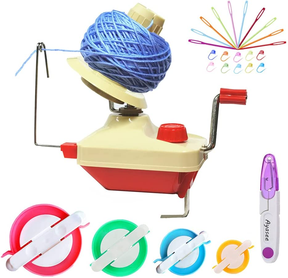 Yarn Ball Winder Hands Ranking TOP10 Operated Wo Swift Raleigh Mall Fiber String