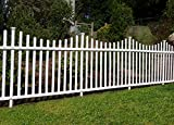 Zippity Outdoor Products ZP19018 Manchester No-Dig Vinyl Fence, White