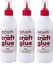 Mont Marte PVA Glue Craft Glue, Fine Tip 250g-3 Pack