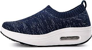 Unparalleled beauty Women's Platform Slip On Walking Shoes Lightweight Casual Wedge Running Sneakers