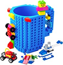 BOMENNE Build-on Brick Mug,Novelty Creative DIY Block Buddy Cup With 3 Packs Of Blocks Randomly,Unique Kids Party Fun Mug ...