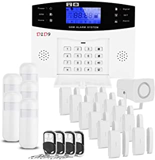 D1D9 Home Alarm System Wireless Built in Antenna Scare Burglar Away for DIY GSM House Security