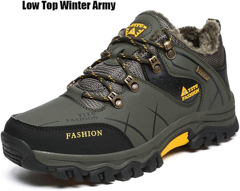 Jacky's Mens Fur Coat Warm Waterproof Winter High Ankle Snow Boot
