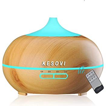 LEMON + Co. 300 ml Cool Mist Air Humidifier Ultrasonic Aroma Essential Oil Diffuser for Office, Home, Bedroom, Living Room, Study, Yoga, Spa; White
