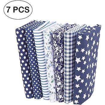 5pcs Tela Patchwork Algodon Ropa de Manualidades Costura Quilting ...