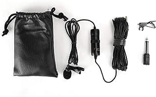 Socobeta Lavalier Mikrofon bärbar slipsklämma mini ljud mikrofon 3,5 mm kontakt för ljudinspelning