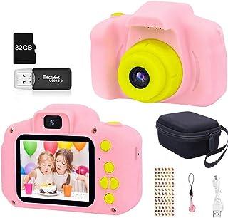 HaiGeng Cámara para Niños 12MP Selfie Cámara Digital 1080