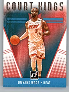 2018-19 Donruss Court Kings Basketball Card #28 Dwyane Wade Miami Heat Official NBA Trading Card Produced By Panini