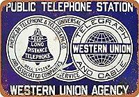 Bell System & Western Union ティンサイン ポスター ン サイン プレート ブリキ看板 ホーム バーために