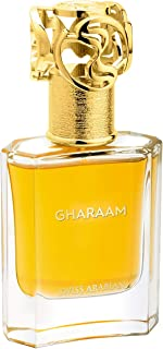 GHARAAM, Eau de Perfume 50mL | Aromatic, Amber, Wood Fragrance for Men and Women | Sultry Jasmine, Saffron, Fir, Cedarwood | Premium Unisex Parfum by Artisan Swiss Arabian Oud | Intense Cologne Spray
