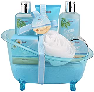 Bath Set for Women - Gift Basket Includes Bubble Bath, Shower Gel, Body & Hand Lotion, Bath Salts and More, Perfect Gifts Set for Home Relaxation (Blue)