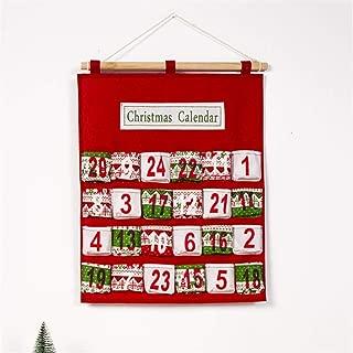 circulor Calendario De Adviento para Rellenar Y Colgar - Hermoso Calendario De Navidad con Números para Hombres, Navidad