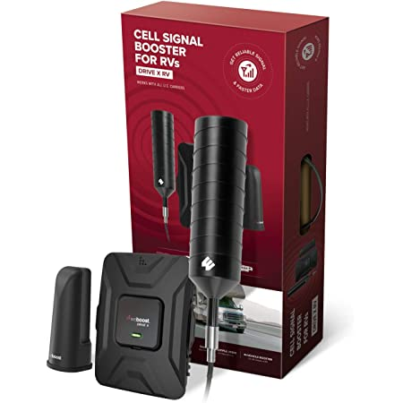 weBoost Drive X RV (471410) Cell Phone Signal Booster | U.S. Company | All U.S. Carriers - Verizon, AT&T, T-Mobile, Sprint & More | FCC Approved, RV & Motorhome Moving + Stationary